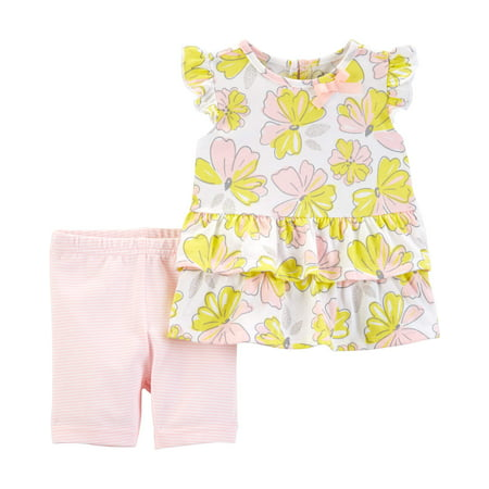 Ruffle Sleeve Top and Shorts, 2pc Outfit Set (Toddler - Eazy E Outfit