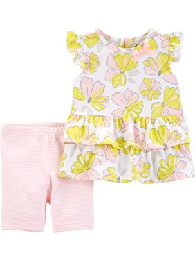 945bba6e3 Product Image Ruffle Sleeve Top and Shorts, 2pc Outfit Set (Toddler Girls)