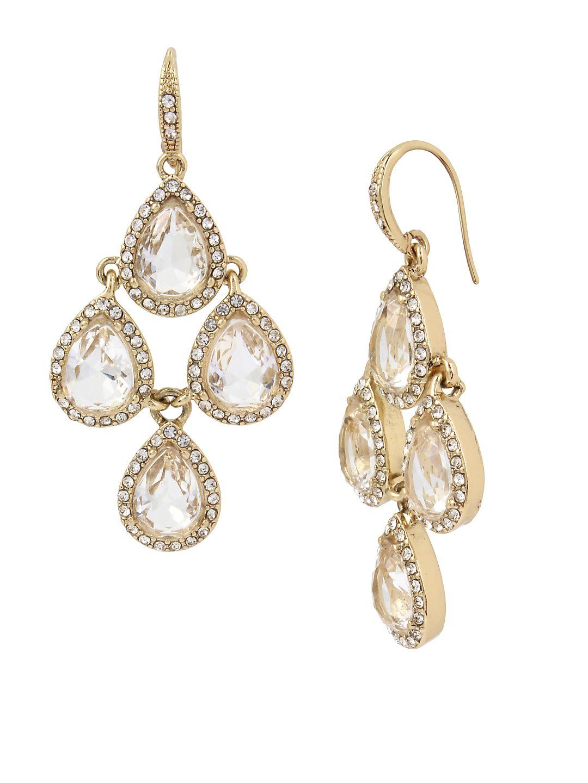 Basic Ears Crystal Chandelier Earrings