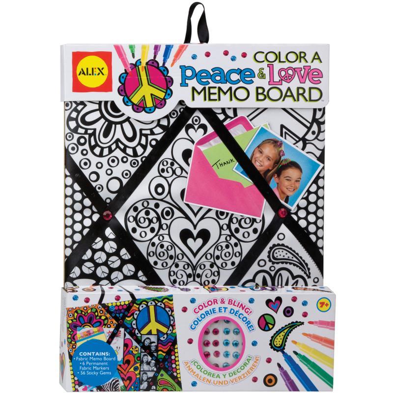 Alex Toys 9786176 Color A Memo Board Kit-peace & Love by ALEX Toys