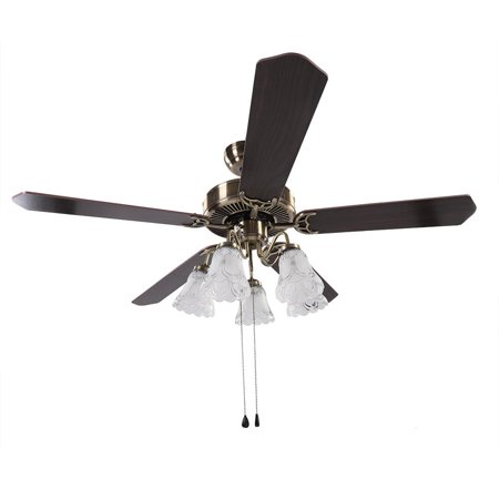 Akozon 4 Blades Ceiling Fan, 52  LED Ceiling Fan 3 Speed levels Lights with Reversible 4 Blades Ceiling Fan, 3 Speed levels LED Ceiling Fan