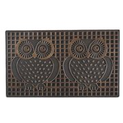 First Impression Twin Owls Outdoor Door Mat