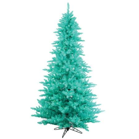 14' Pre-Lit Aqua Blue Fir Artificial Christmas Tree - Aqua Lights