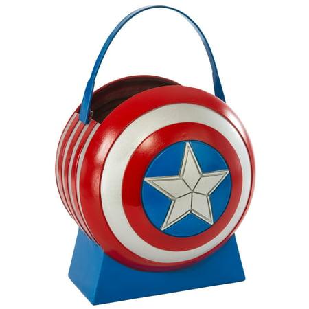 Diy Halloween Pail (Captain America Avengers 2 Collapsible Shield)