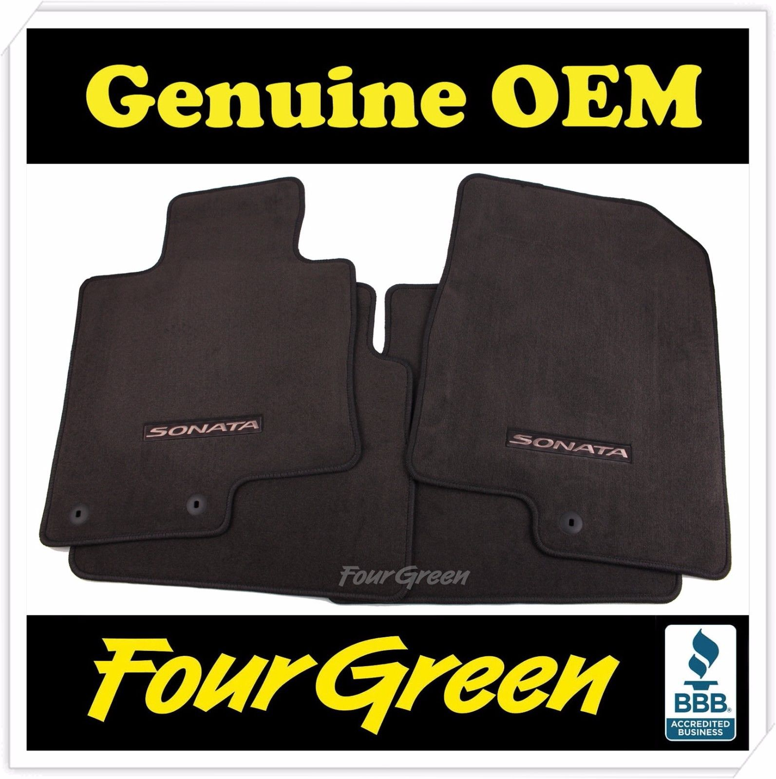 Genuine Hyundai sonata 2011-2012-2013-2014 Floor mats SET 4 PCS [3QF14-AC200-RY]