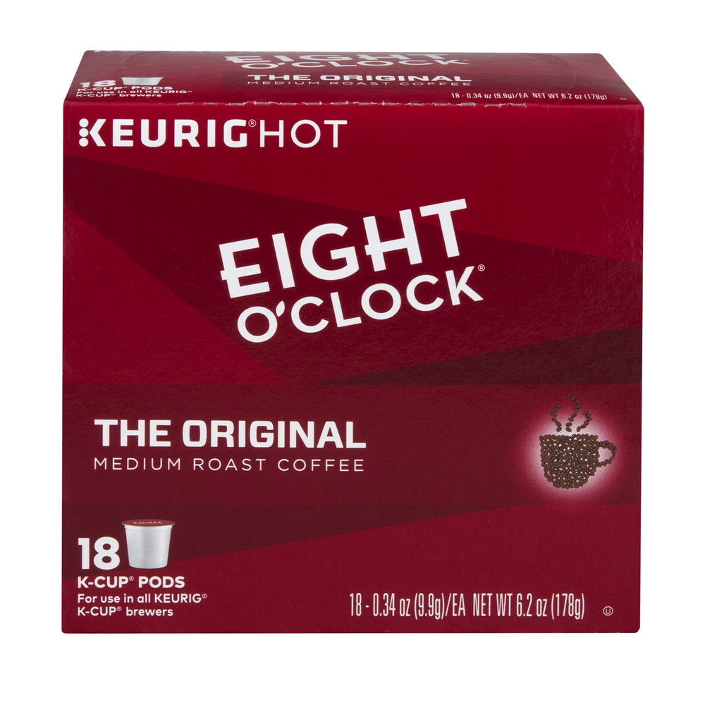 Eight O'Clock K Cup Pods The Original - 18 CT