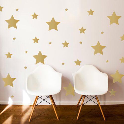 Dana Decals Multi-Size Stars Wall Decal Set (Set of 48)