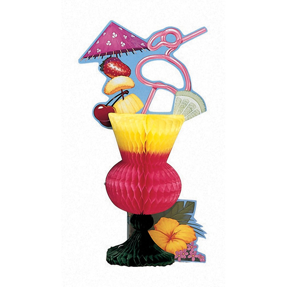 "8 1/2"" x 13"" x 4"" Honeycomb Centerpiece Tropical Drink/Case of 6"