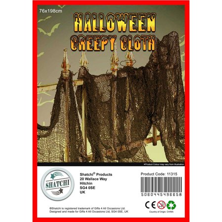 HALLOWEEN CREEPY CLOTH TABLE DOORS WINDOWS WALL CEILING DECORATION PROP 200cm (Homemade Table Decorations For Halloween)