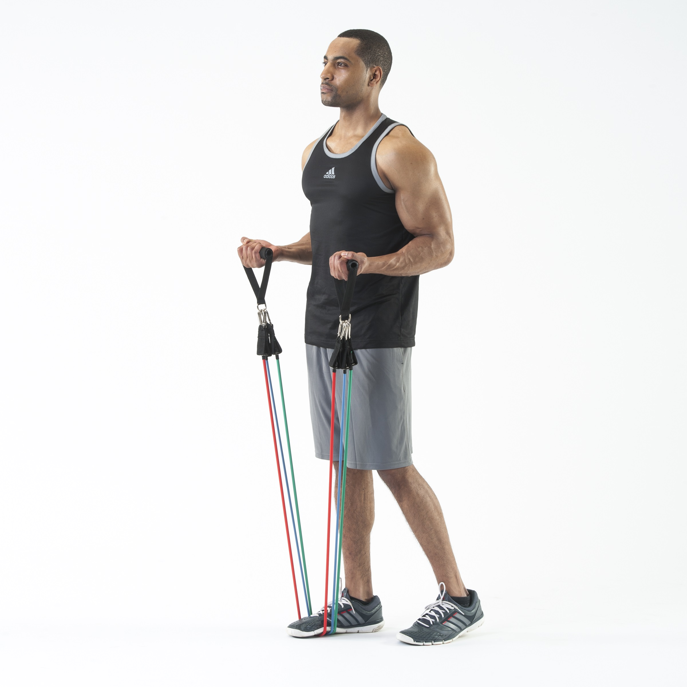 Resistance Band Set with Door Anchor, Ankle Strap, Exercise Chart, Carrying Case