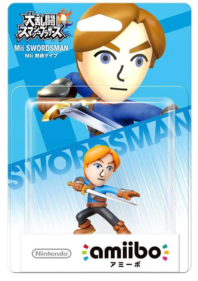 Nintendo Amiibo Mii Swordsman Mini Figure by