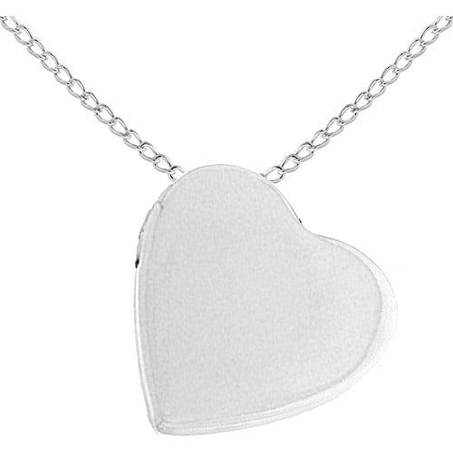 "24mm Sterling Silver Floating Heart Locket, 18"""