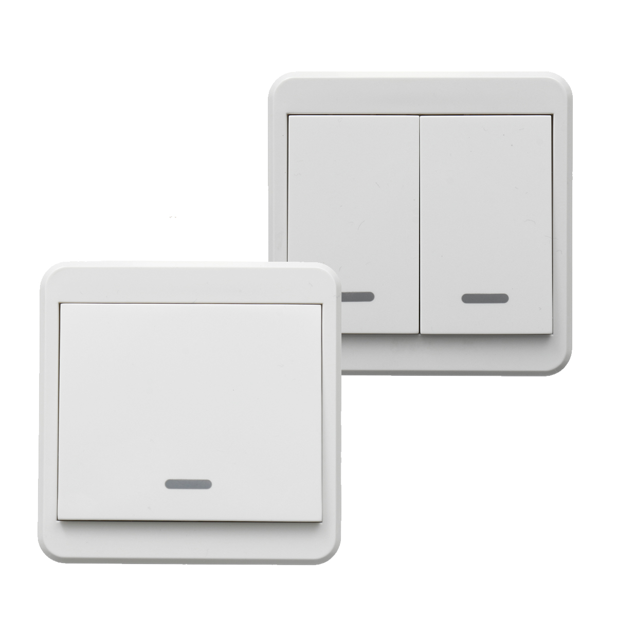 1 2 Way Wireless Switch Smart Wireless Wall Light Switch Lamp Remote Control Switch On Off Receiver Walmart Com Walmart Com