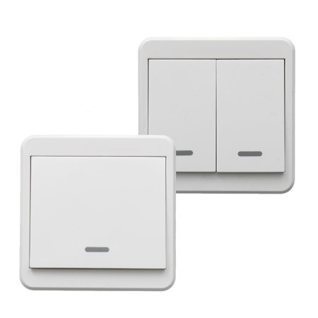 1/2-Way Wireless Switch Smart Wireless Wall Light Switch Lamp Remote Control Switch ON/OFF +