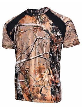Product Image Mens Camo 100% Polyester Hunting Zone Shirt Short Sleeve  Brand New 0c9e131a627