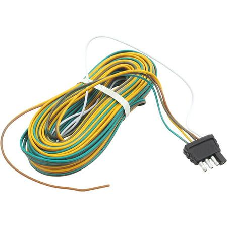 Trailer Wire Harness 25 feet 4- Way Flat Plug - Walmart.com on 12 pin voltage regulator, toyota stereo wiring harness, 12 pin power supply,