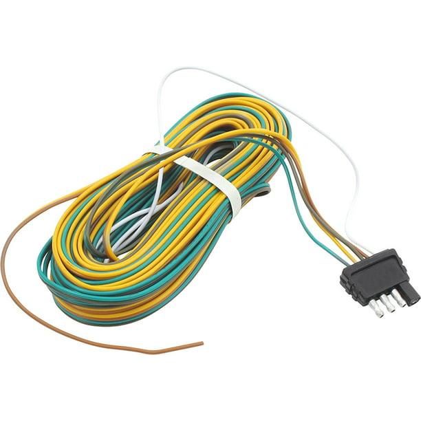 trailer wire harness 25 feet 4 way flat plug
