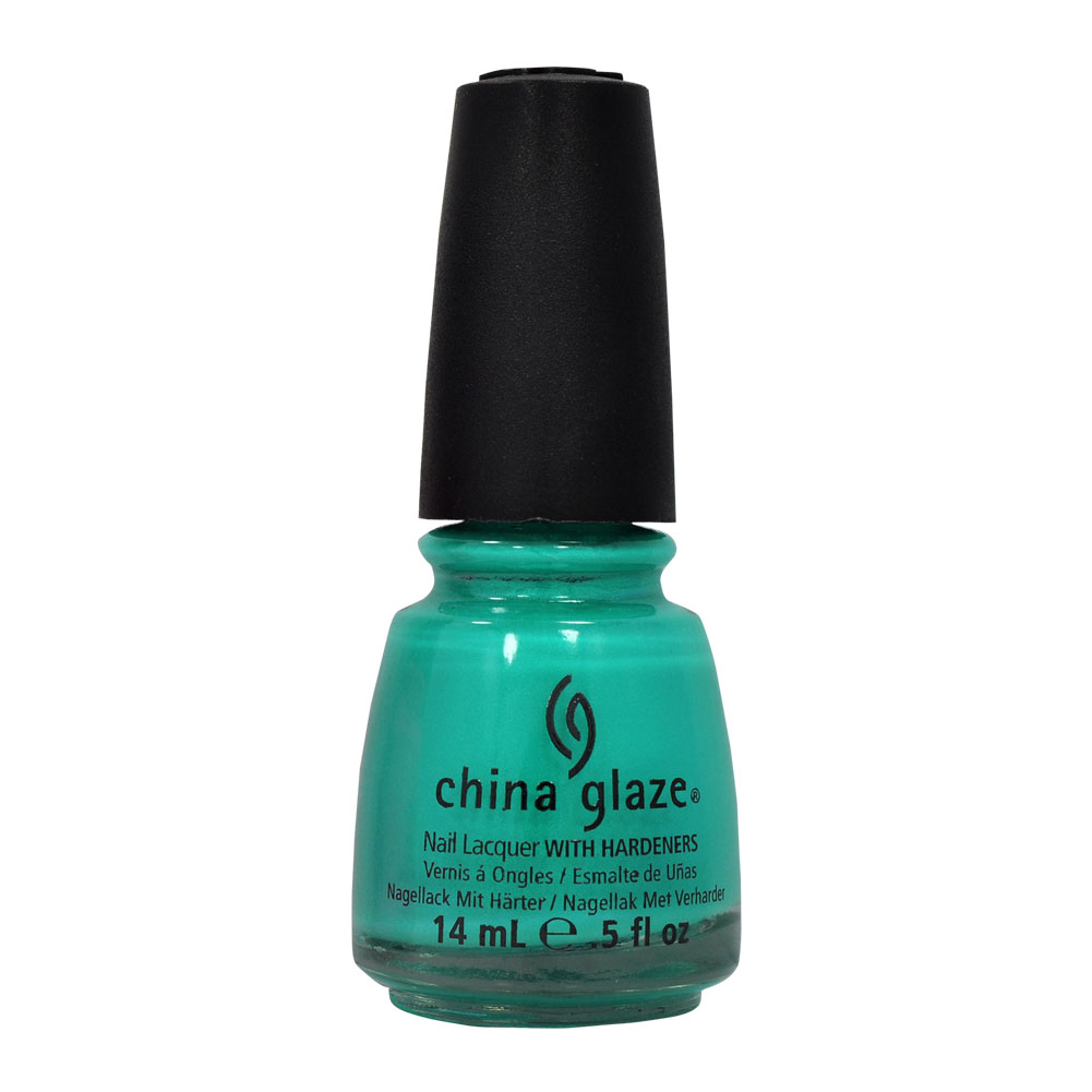 China Glaze 0.5oz Nail Polish Lacquer Clay Blue, TURNED UP TURQUOISE, 70345