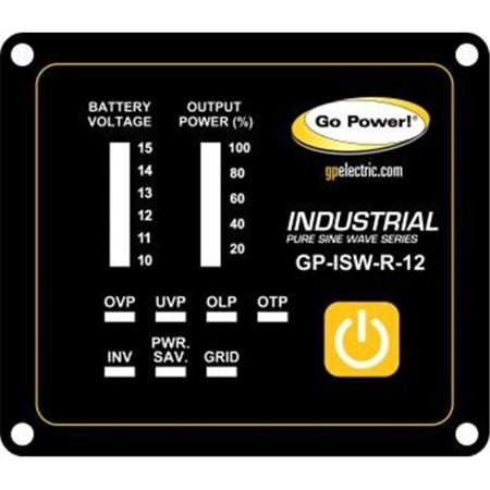 Control Pure Sine Wave Output - Go Power GP-ISW-R Industrial Pure Sine Wave Inverter Remote for Inverters