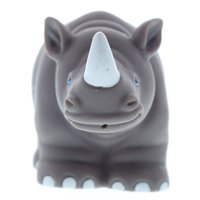 Dollibu Rhinoceros Rubber Bath Toy Squirter Gray Bath Buddy Fun Floater Animal Collection 3.5 Inch Affordable Gift for Babies Safe For All NO Age Restrictions Bath Time/Pool Toy Water Party Gi