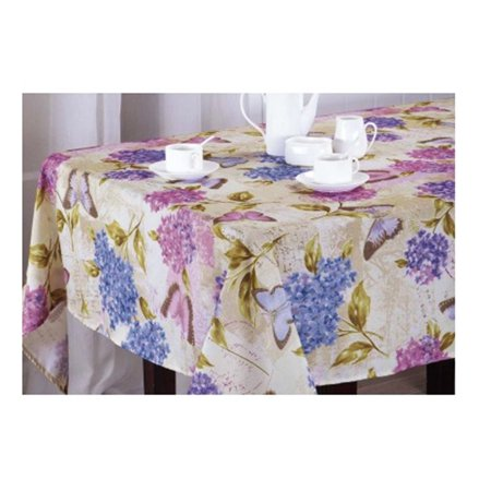 Hydrangea Flowers Butterfly Tablecloth Print Fabric (70 Round)](Butterfly Tablecloth)