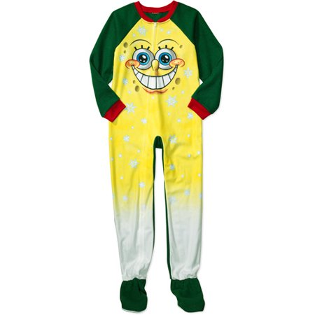 Nickelodeon - Boys' SpongeBob SquarePants Footy Pajamas - Walmart.com