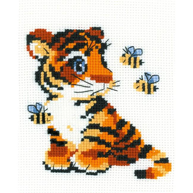 6 x 7 in. Stripes Counted Cross Stitch Kit, 10 Count