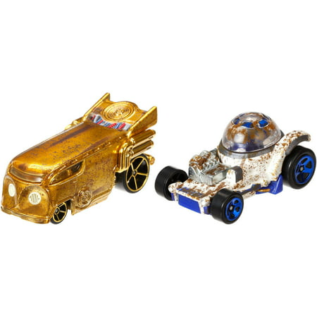 Hot Wheels Star Wars C-3PO and R2D2 Character Car 2-Pack