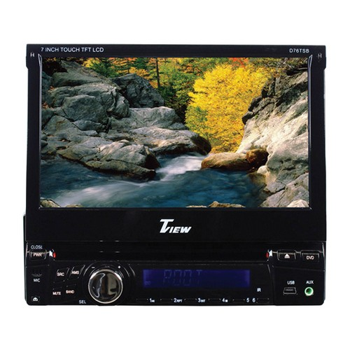 "Tview D76TSB 7"" Indash Single Din Receiver Bluetooth MP3/CD USB/SD Remote"