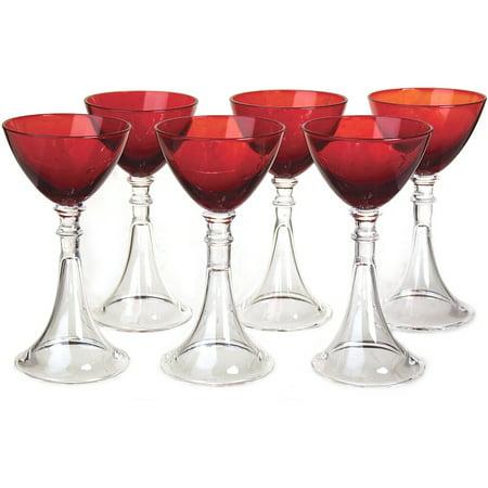 Crystal Glass Cordial Glass (Artland Veranda Ruby Cordial Glass, Set of 6 )