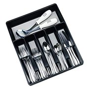 Silverware Organizer for Kitchen Drawer Flatware Utensils and Cutlery Tray