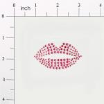 Expo Int'l Peel-N-Glitz Lips Applique - Fuchsia