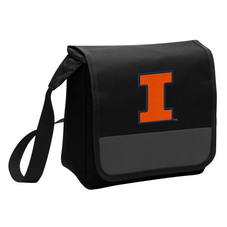Illini Lunch (University of Illinois Lunch Bag Stylish OFFICIAL Illini Lunchbox Cooler for School or Office - Men or)