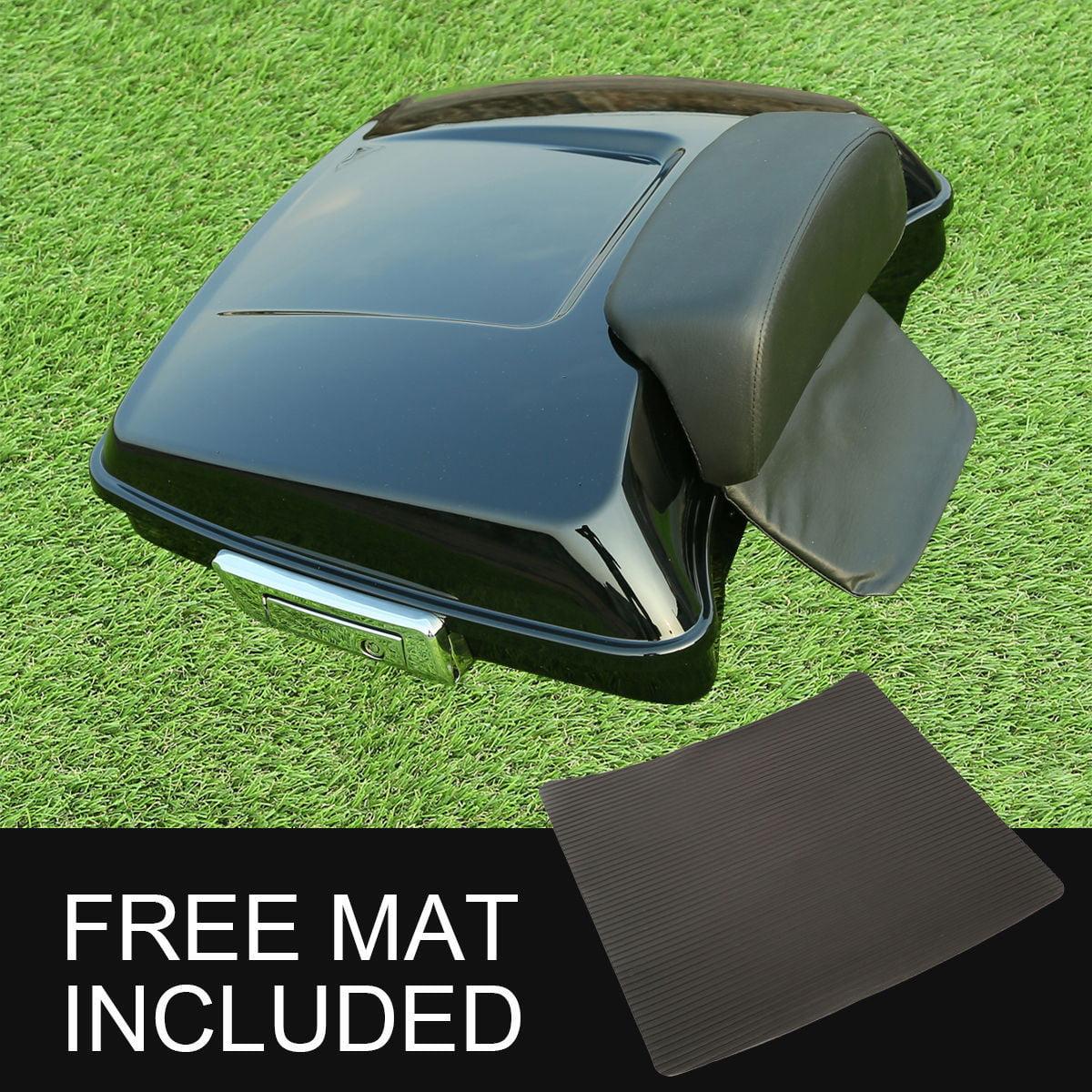 TCMT Matt Black Chopped Tour Pack Trunk W//Backrest Fits For Harley Street Road Glide 2014-2020 Style B