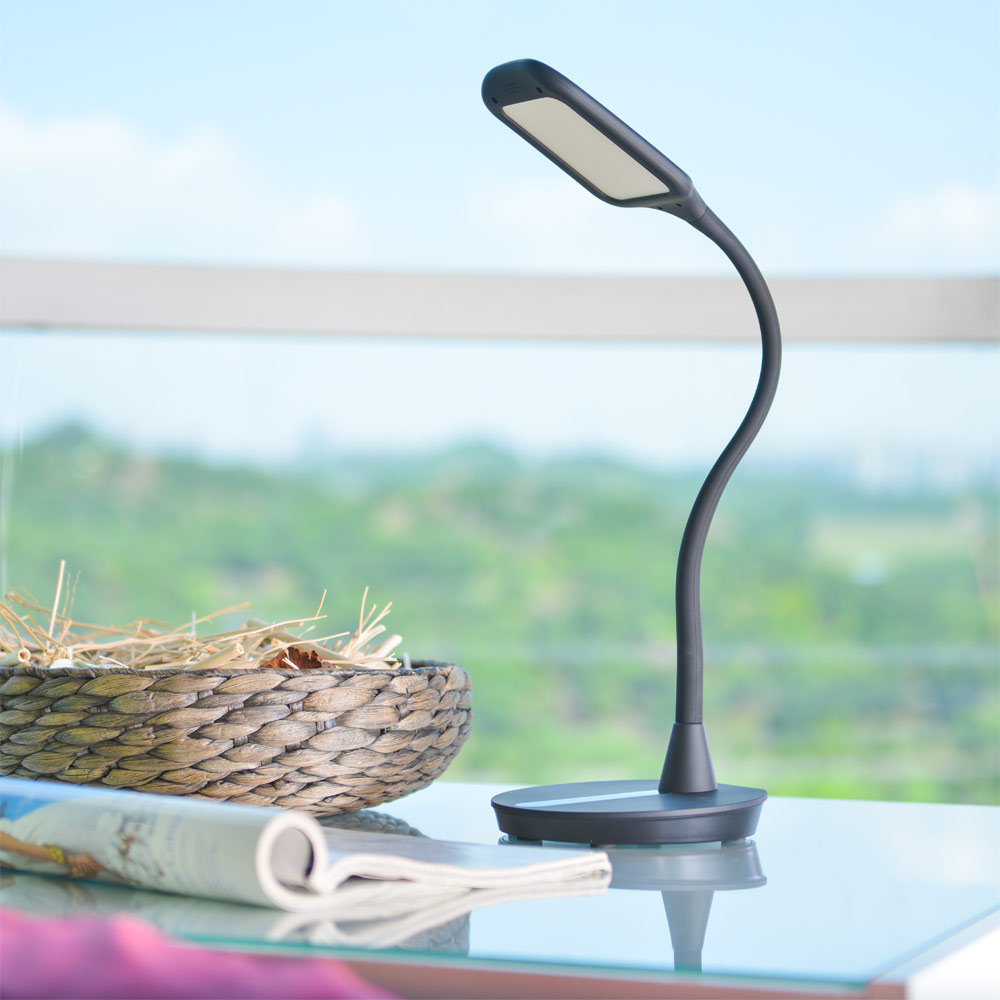 ANNT LED Desk Lamp Gooseneck Portable Lightweight Table Light with Touch-Sensitive Control Desk Light with 1.5A USB... by ANNT
