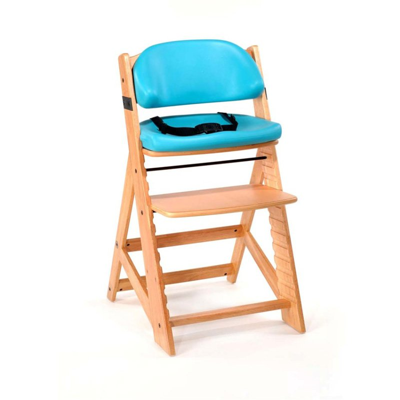 Keekaroo Height Right Kids Chair Natural with Aqua Comfort Cushions