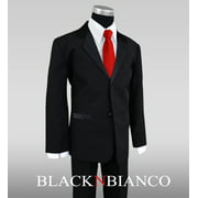Big Boys Tuxedos Suit with a Royal Blue Neck Tie