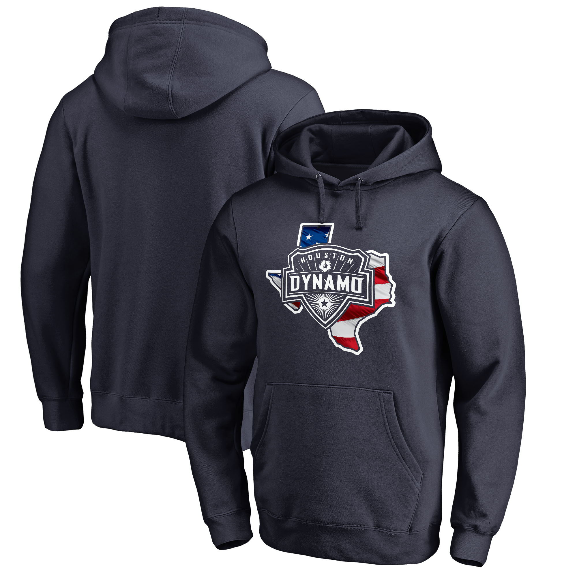 Houston Dynamo Fanatics Branded Banner State Pullover Hoodie - Navy