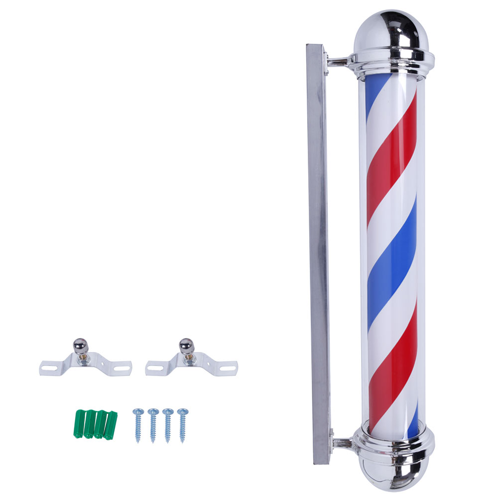 "Zimtown 36"" Wall-Mounted Barber Shop Sign Rotating Pole Light Stripes LED Sturdy US Plug"