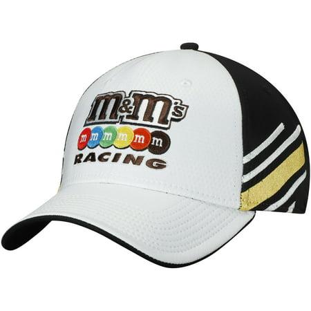 Kyle Busch M&M's Sponsor Stripe Adjustable Hat - White/Yellow - OSFA