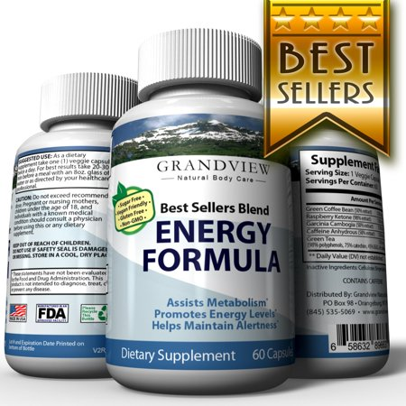 Best Sellers Blend Energy Formula - Promotes Fat Cell Breakdown Suppresses Appetite Boost Metabolism Enhances Weight Loss Increases