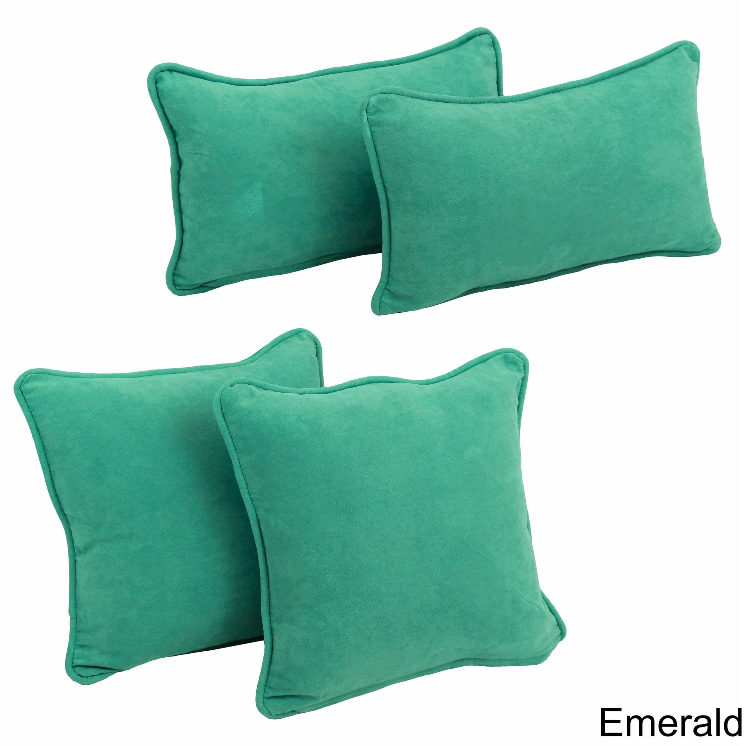 Blazing Needles  4-Piece Microsuede Pillows (Set of 4)