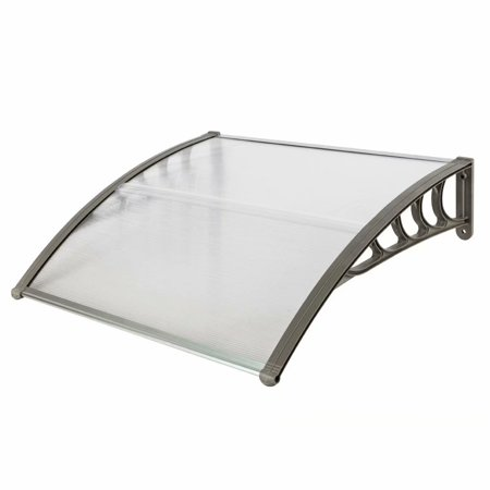 """39.37"""" x 39.37"""" Outdoor Clear Door Window Awning Patio Cover Rain Protection One-Piece Polycarbonate Hollow Sheet"""