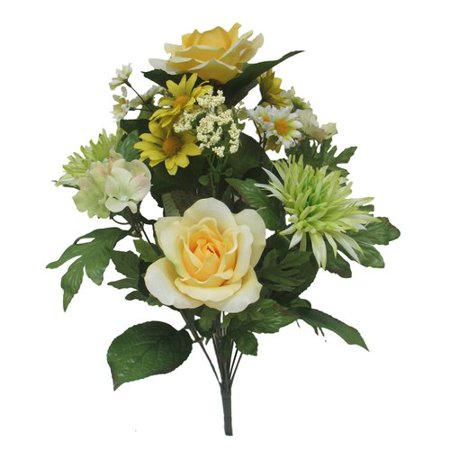 Mixed Rose Hyd Bouquet Mxd Yellow Green