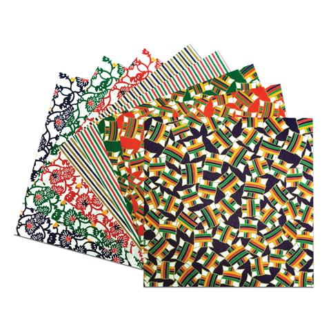 Yasutomo Yuzen Origami Sheet, 5-7/8in, Blue, 10/Pkg.