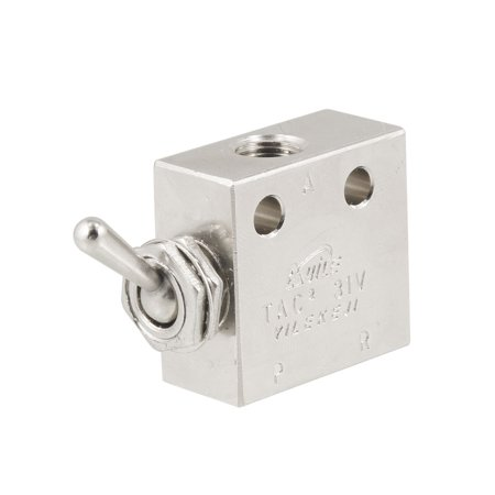 Unique Bargains TAC2-31V Air Pneumatic 2 Position 3 Way ON OFF Switch Knob Toggle Valve
