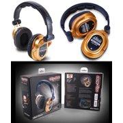 Dj Tech EDJ500GOLD Profressional Headphones From World Famous Dj Chris Garcia W/1/4-inch Adapter & 1/8-inch Adapter, Gold [single]