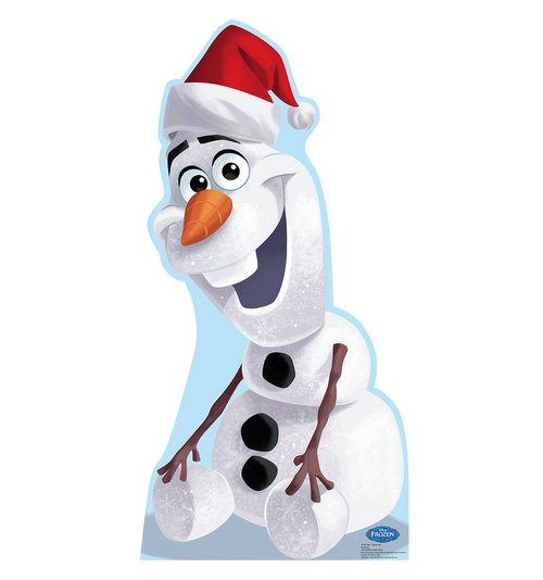 "Advanced Graphics 1776 Olaf Santa Hat (Disney's Frozen) - 40"" x 20"" Cardboard Standup"