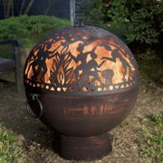Good Directions Oversized Fire Bowl with Full Moon Party FireDome - 26""