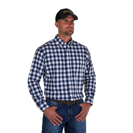 Noble Outfitters 11002-787 Mens Navy Generations Large Check Shirt Large Old Navy Outfitters